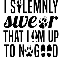 I Solemnly Swear That I'm Up To No Good Quote Harry Potter by krochelle