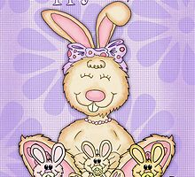 Hoppy Easter Rabbit With Baby Rabbits by Moonlake