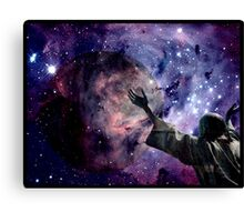 In the beginning God created the heavens and the earth. Canvas Print