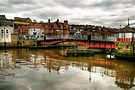Swing Bridge over the River Esk by Christine Smith
