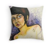Surreal Self Portrait Throw Pillow