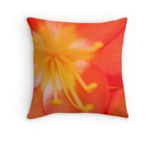 orange burst.. Throw Pillow