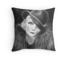 marlene dietrich Throw Pillow