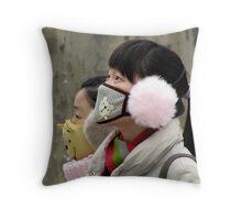 Winter wear in Nanjing, China Throw Pillow