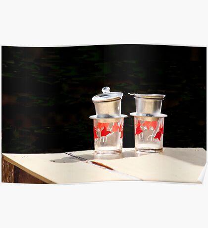 Vietnamese Tea Cups Poster