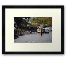 Boats in Launceston Framed Print
