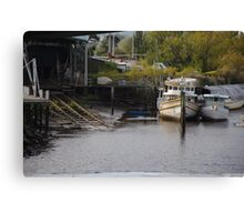 Boats in Launceston Canvas Print
