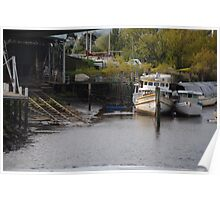 Boats in Launceston Poster