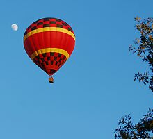 Red Balloon and the moon by Ben Waggoner