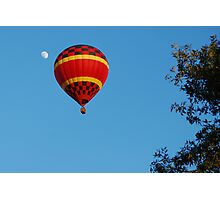 Red Balloon and the moon Photographic Print