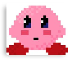 Kirby Pixel Canvas Print