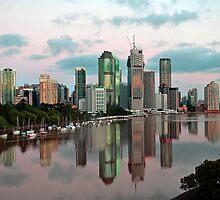 Brisbane River and City at dawn. Queensland, Australia.(8) by Ralph de Zilva
