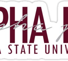 FSU Alpha Phi Logo - Bordeaux Sticker