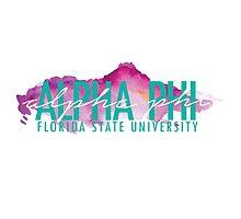 FSU Alpha Phi Logo - Watercolor by fsualphaphi