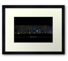 Miami Skyline View From A Restricted Area=) Framed Print