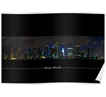 Miami Skyline View From A Restricted Area=) Poster
