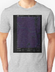 USGS Topo Map California Broken Rib Mountain 20120323 TM Inverted T-Shirt