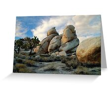 """Joshua Tree Rock Formations At Dusk"" Greeting Card"