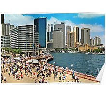 Australia Day at Circular Quay Poster