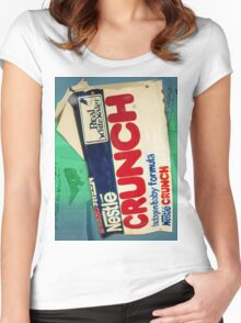 Crunch bar wrapper Women's Fitted Scoop T-Shirt