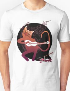 cute singing cat with a guitar after hunting T-Shirt