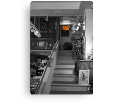 Cigar Store in Grey Canvas Print