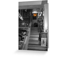 Cigar Store in Grey Greeting Card