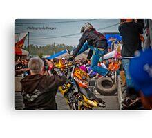 Motorcycle Superman Canvas Print