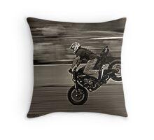 Stuntwars Motorcycle Event Throw Pillow