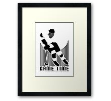 Game Time - Hockey (White) Framed Print