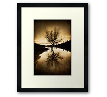 Alone In The Middle Framed Print