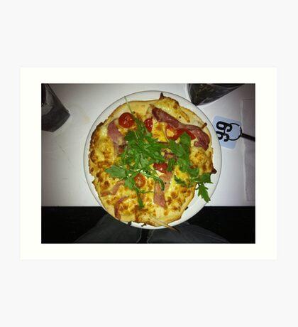 Pizza Prosciutto Con Formaggio Art Print