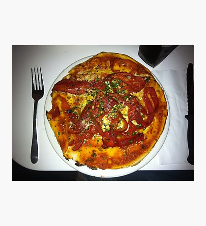 Pizza Peperonata Photographic Print