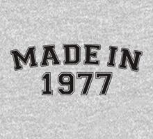 Made in 1977 by personalized