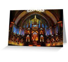 Notre Dame Basilica - Montreal Quebec Greeting Card