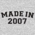 Made in 2007 by personalized