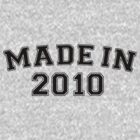 Made in 2010 by personalized