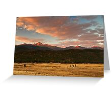 First Light On Longs Greeting Card