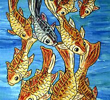 Nine Goldfish by TriciaCurry
