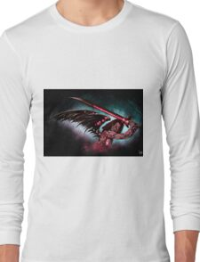 Robot Angel Painting 016 Long Sleeve T-Shirt