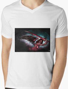 Robot Angel Painting 016 Mens V-Neck T-Shirt
