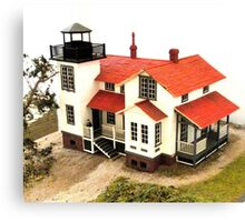 """""""Old Point San Luis Lighthouse - Scale Model"""" Canvas Print"""