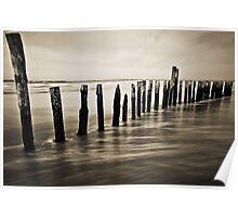 Wooden Poles - Landscape Poster