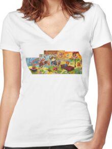 Risk & Reward Women's Fitted V-Neck T-Shirt
