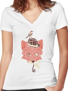 Let's solve a mystery Women's Fitted V-Neck T-Shirt