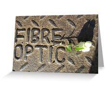 Fibre Optic (mistletoe on metal) Greeting Card