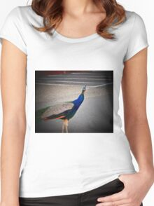 Take the Photo Lady...I have more Strutting To Do!! Women's Fitted Scoop T-Shirt