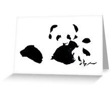 Napping Pandas Greeting Card