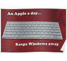 An Apple a day... keeps Windows away Poster
