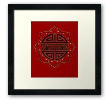 Semicolon; Lotus Flower   Framed Print
